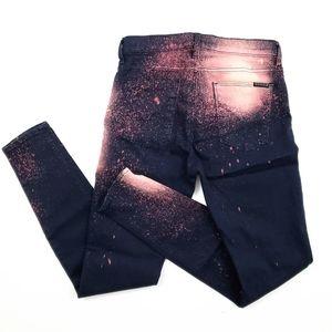 Hudson Nico Bleach Splatter Skinny Jeans SZ 29